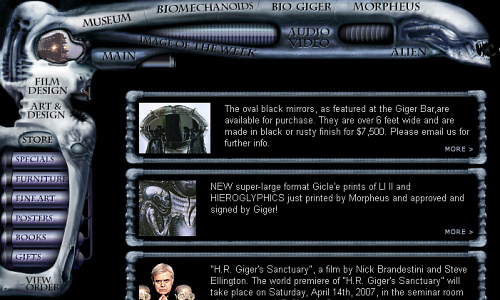Visia flash gallery: H. R. Giger