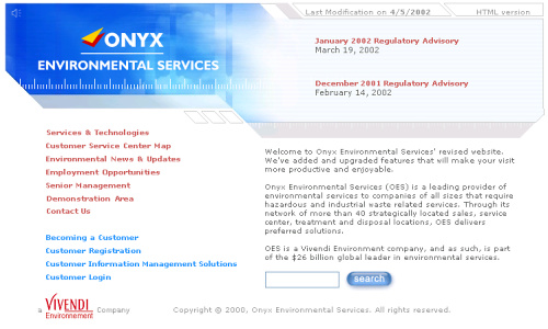 Visia flash gallery: Onyx Environmental Services